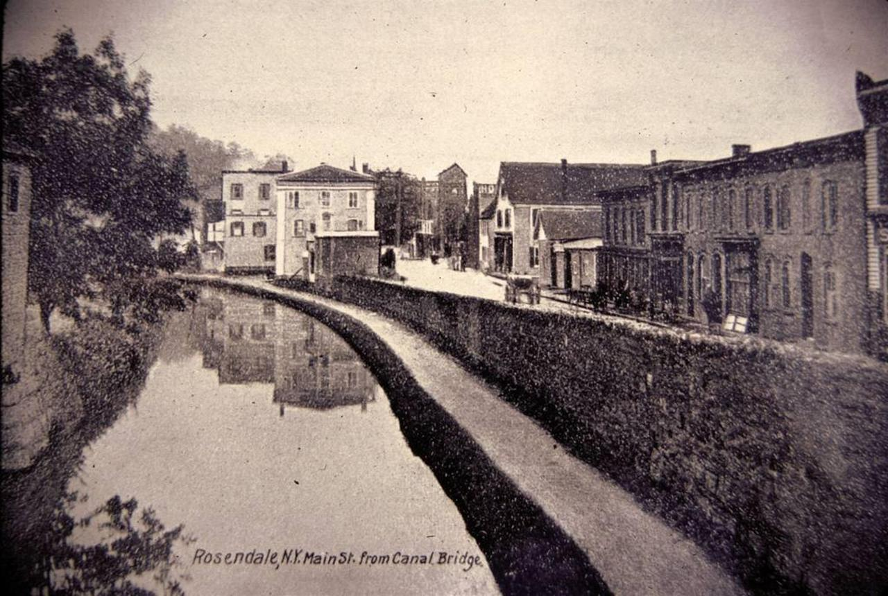 old photo of the town